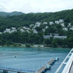 Arriving at Ocho Rios, Jamaica