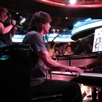 Rick Springfield perfoms in the ship's piano bar